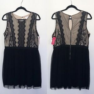 NWT Black lace cocktail dress